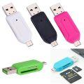 LEITOR USB / MICRO USB (V8) P/ SD / MICRO SD OTG LELONG - LE-5555