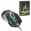 MOUSE GAMER USB PRETO C/ FIO / LED RGB C/ 800 A 4000 DPI SHINKA - V5