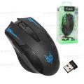 MOUSE GAMER USB SILENCIOSO RECARREGÁVEL PRETO S/ FIO 2,4GHZ C/ 2000 DPI SHINKA - MO-X07