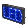 PAINEL DE LED AZUL 36 X 20CM C/ ENTRADA USB LELONG - SL-0421A