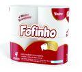 PAPEL HIGIÊNICO FOFINHO FOLHA DUPLA PERFUMADO BEBÊ 4 ROLOS C/ 30,0M - 1808