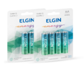 PILHA AA ALCALINA LR6 (BLISTER C/ 2) ELGIN - 82152