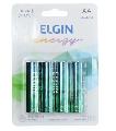 PILHA AA ALCALINA LR6 (BLISTER C/ 4) ELGIN - 82153