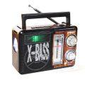 RÁDIO AM / FM RETRO C/ LANTERNA / SD / TF / USB / AUX  C/ ENTRADA MIC. LELONG - LE-621