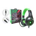 FONE DE OUVIDO GAMER USB + P2 C/ AJUSTE DE VOLUME / LED P/ PS4 / XBOX ONE TECDRIVE X-CELL - PX-12 Verde