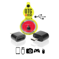ADAPTADOR MICRO USB (V8) MACHO X USB FÊMEA OTG SHINKA - AT-V8-OTG / LEAVES