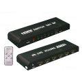 SWITCH HDMI 1.4 3D 1080P 5 ENTRADAS X 1 SAÍDA C/ CONTROLE LEAVES - 224