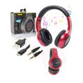 FONE DE OUVIDO BLUETOOTH 5.0 LED C/ SD / MP3 / FM / AUX B-MAX - BM-106 Vermelho